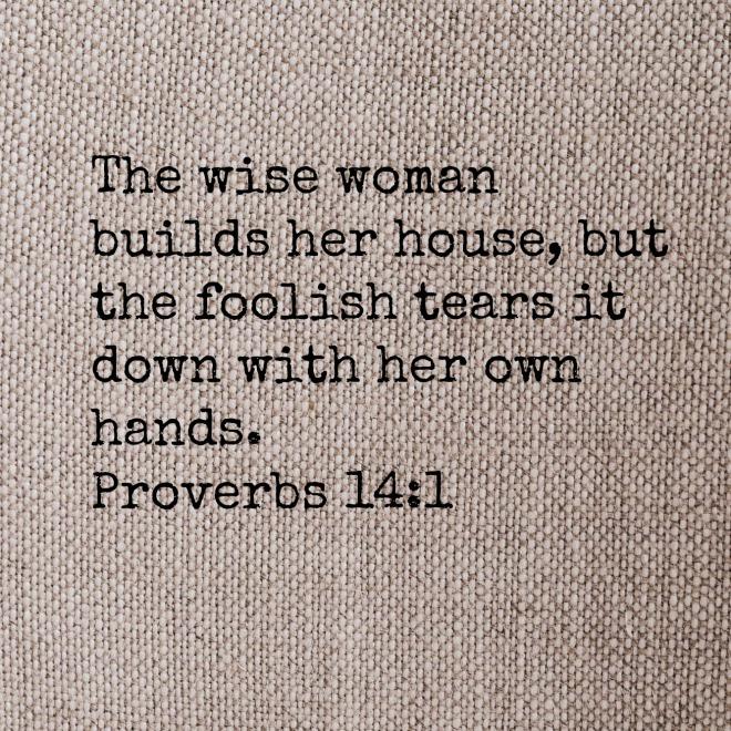 Proverbs 14-1