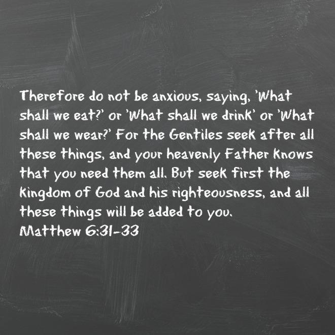 Matthew 631-33