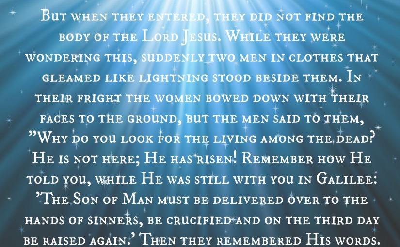Luke 24: 3-8