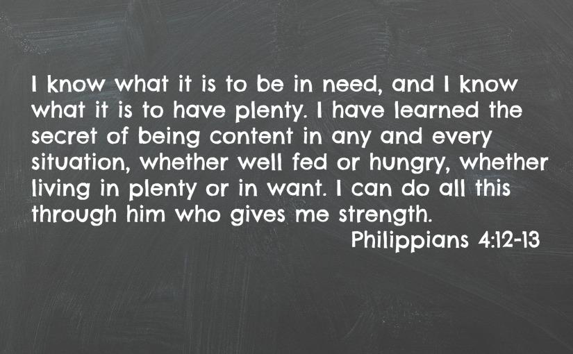 Philippians 4:12-13