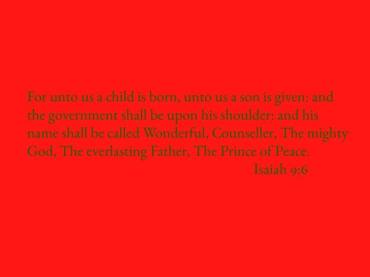 Isaiah 9:6