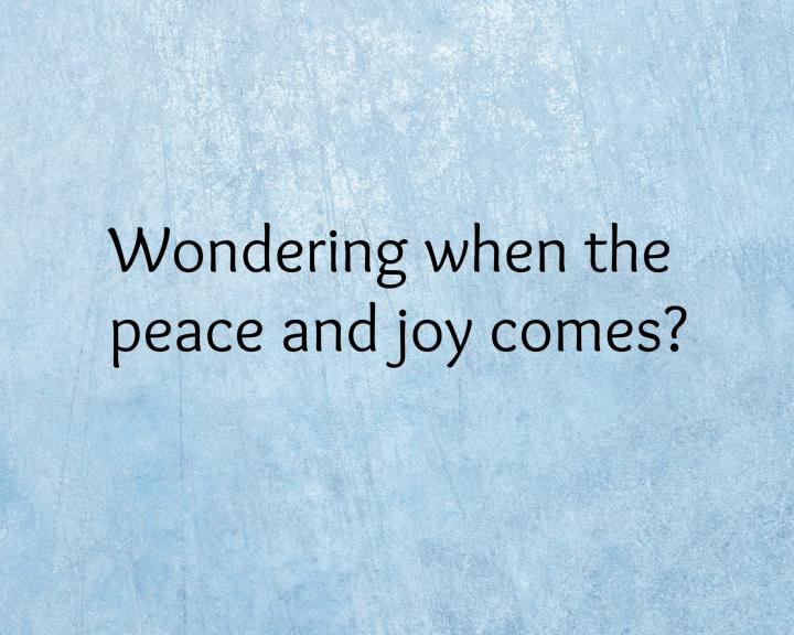 Peace and Joy Q &A
