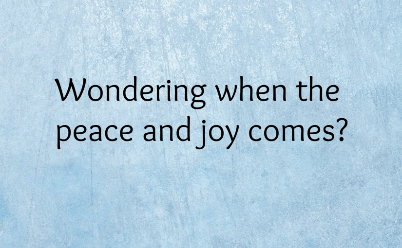Peace and Joy Q & A